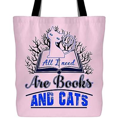 Amazon.com: Bolsas para libros y gatos con asas largas y ...