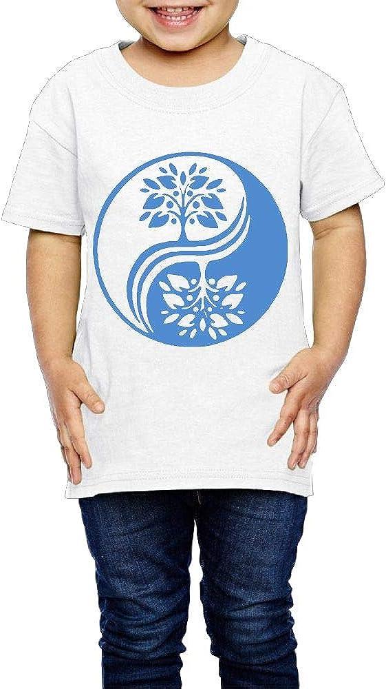 Japanese Bonsai Tree in Yin Yang 2-6 Years Old Child Short-Sleeved T-Shirt