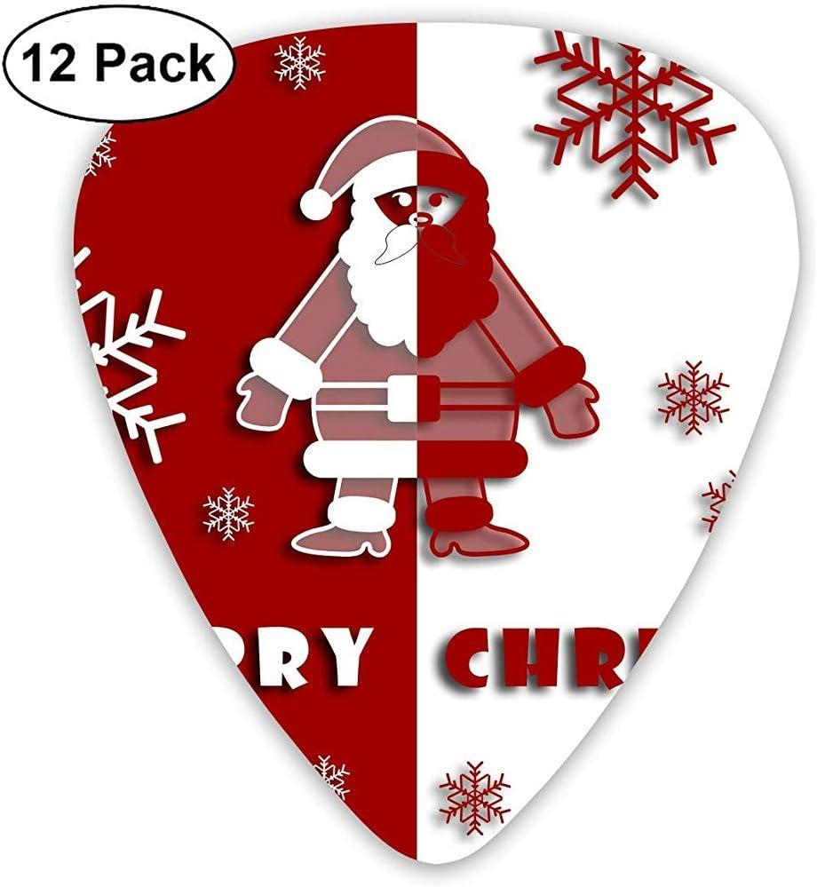 Púas de guitarra clásica Merry Christmas Plectrums Instrument Standard Bass 12 Pack