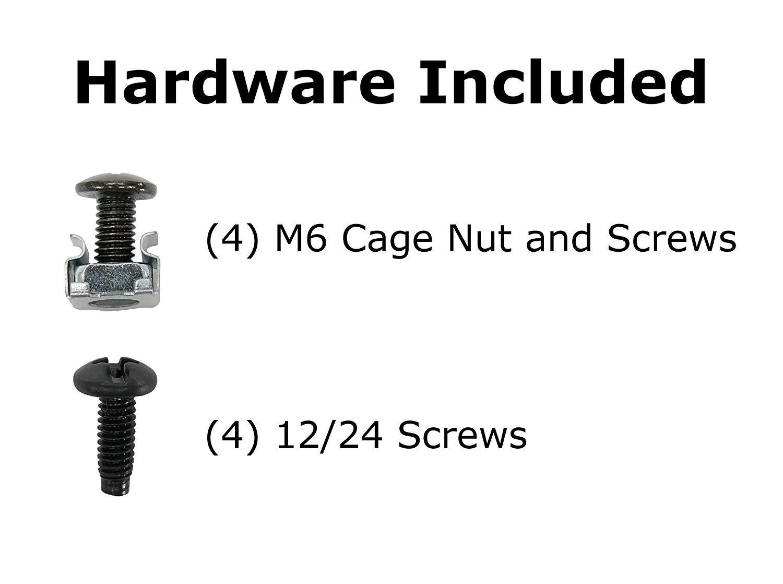 CNAweb 1U 19-Inch Vented Rackmount Equipment Shelf for Cabinet Server Rack 11'' Deep