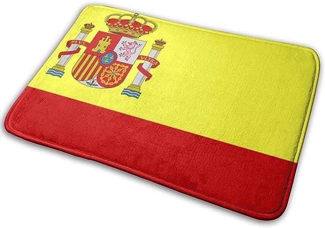 2uy3X6Pz Bienvenido Felpudo - Alfombra de Piso de Entrada Antideslizante - Tapetes de Alfombra Lavables a máquina con Bandera de España 15.7