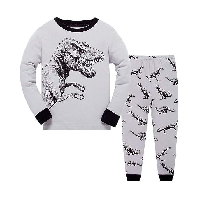 d7de6407 Gold Treasure ❤️ Dinosaurio niño niños niños Pijamas Conjunto