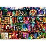 bookshelf decorating ideas Arts Rakkiss 5D DIY Dream Bookshelf Fairy Tale Embroidery Square Diamond Drawing Round Drill Home Decor Gift 3040cm