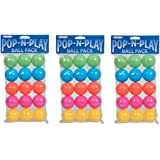Marshall Pet Products Pop-N-Play Ball Pack (3-Pack)