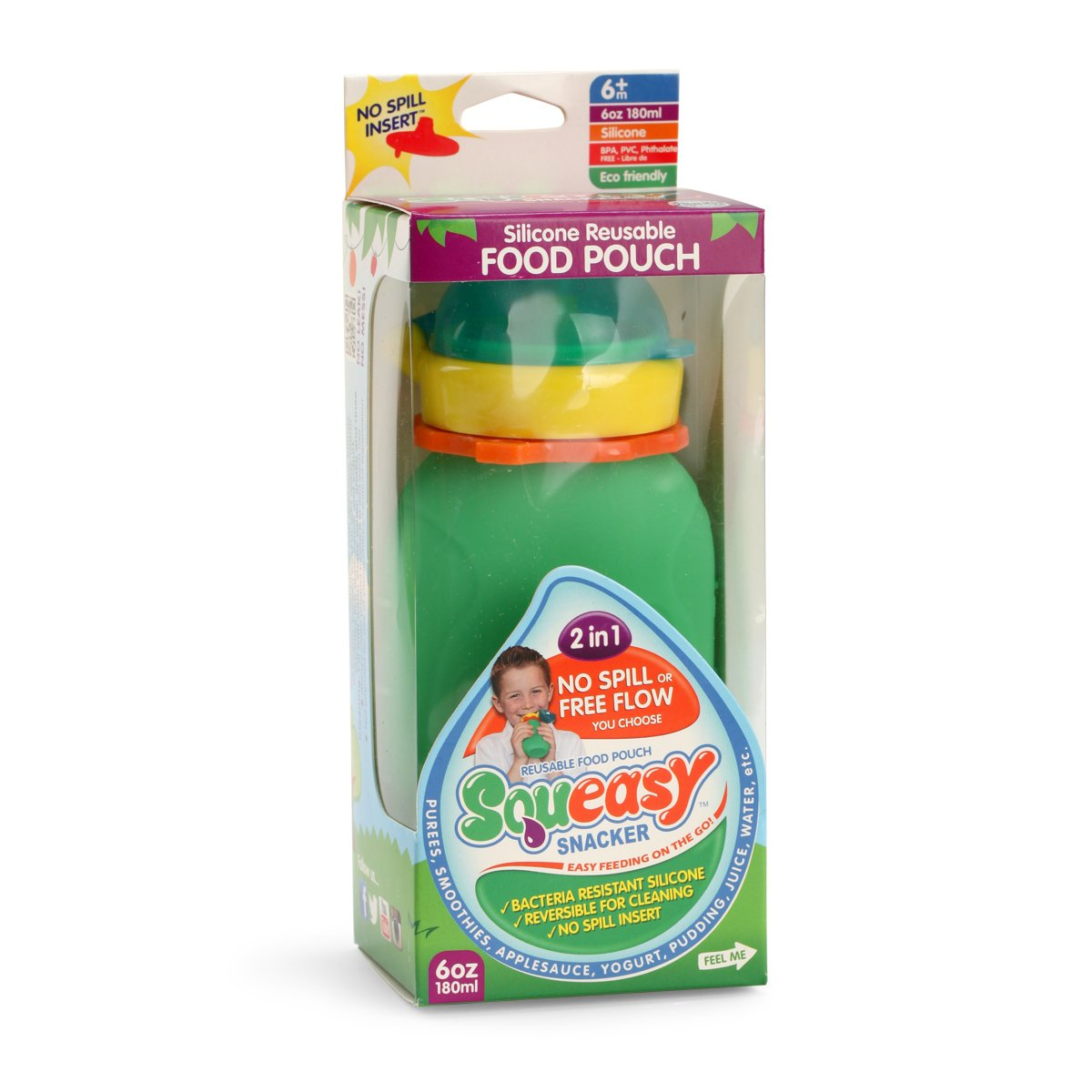 Amazon Com Reusable Baby Food Pouch Squeeze Portable