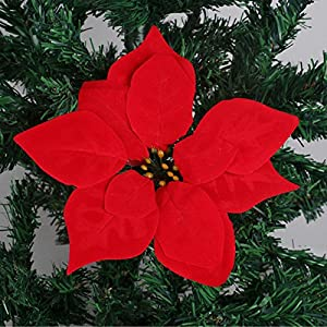 FYYDNZA Poinsettia Flower Head Simulation Plant Wholesale Decoration 44