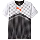 PUMA Men's It Evotrg Graphic Tee, Puma Black/Red Blast, Small