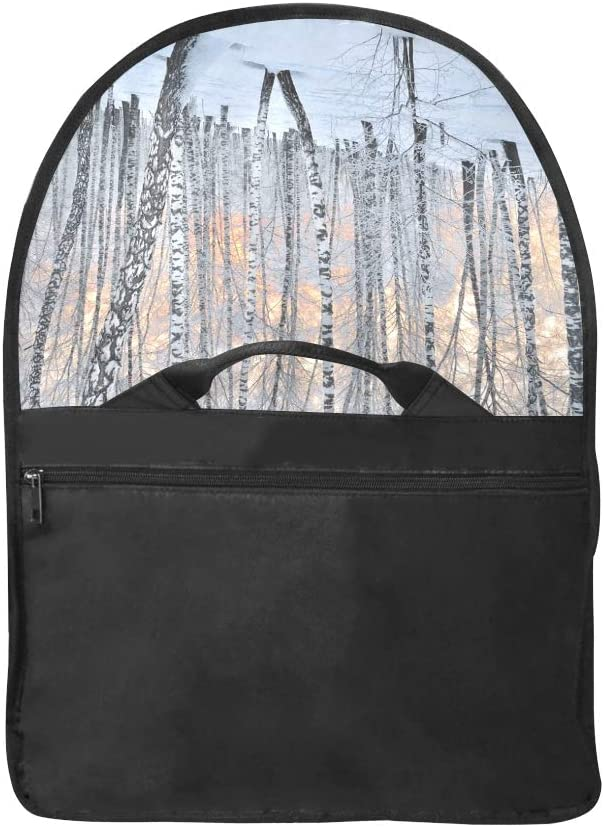 Custom Laptop Carrying Case Birches in The Winter Forest Multi-Functional Laptop Bags Fit for 15 Inch Computer Notebook MacBook