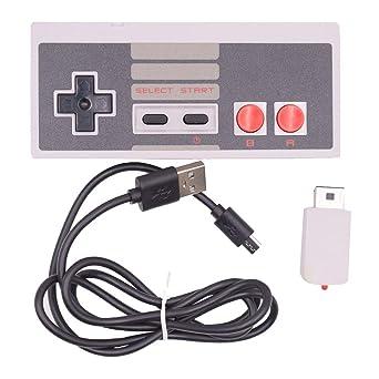 Mini Kabellos Gamepad Griff Joystick, Gaming Controller für Nintendo Classic NES Spielkonsolen