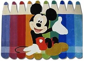 Kinder Teppich Kinderteppich mit Mickey Mouse / Micky Maus / bunt ...