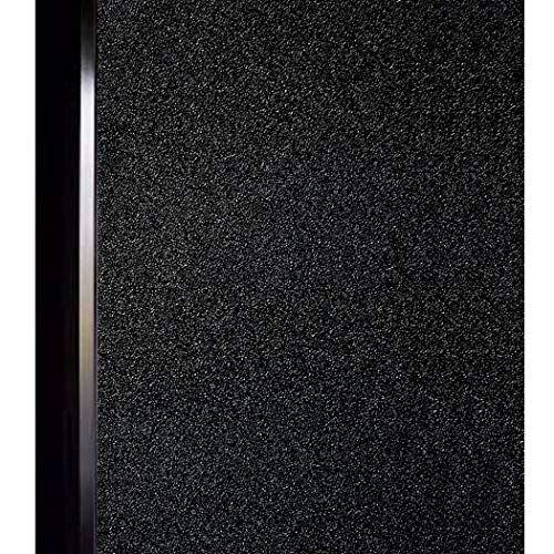 Matte Decorative - DUOFIRE Black Window Film Privacy Window Film Blackout Sun-Light Control Window clings No Glue Anti-UV Non Adhesive Window Matte Decorative Film, Super Dark Black, DT-C009 (23.6 x 157.5 Inch)