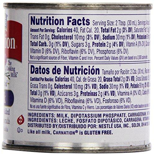 Carnation Condensed Milk Nutrition Information - Nutrition ...