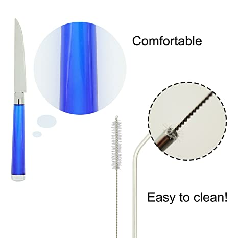 Amazon.com | Reusable Tableware Set with Stainless Steel Straws, TIMGOU 2 Flatware Sets with Carry Case, Knife, Fork, Spoon, Chopsticks, ...