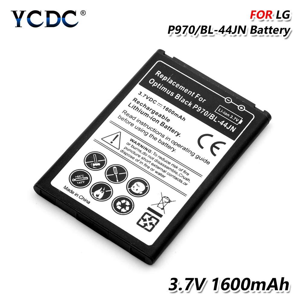 2PCS Replacement Battery,BL-44JN BL 44JN Battery for LG P970 P690 P693 E730 E510 C660 P698 C660 MS840