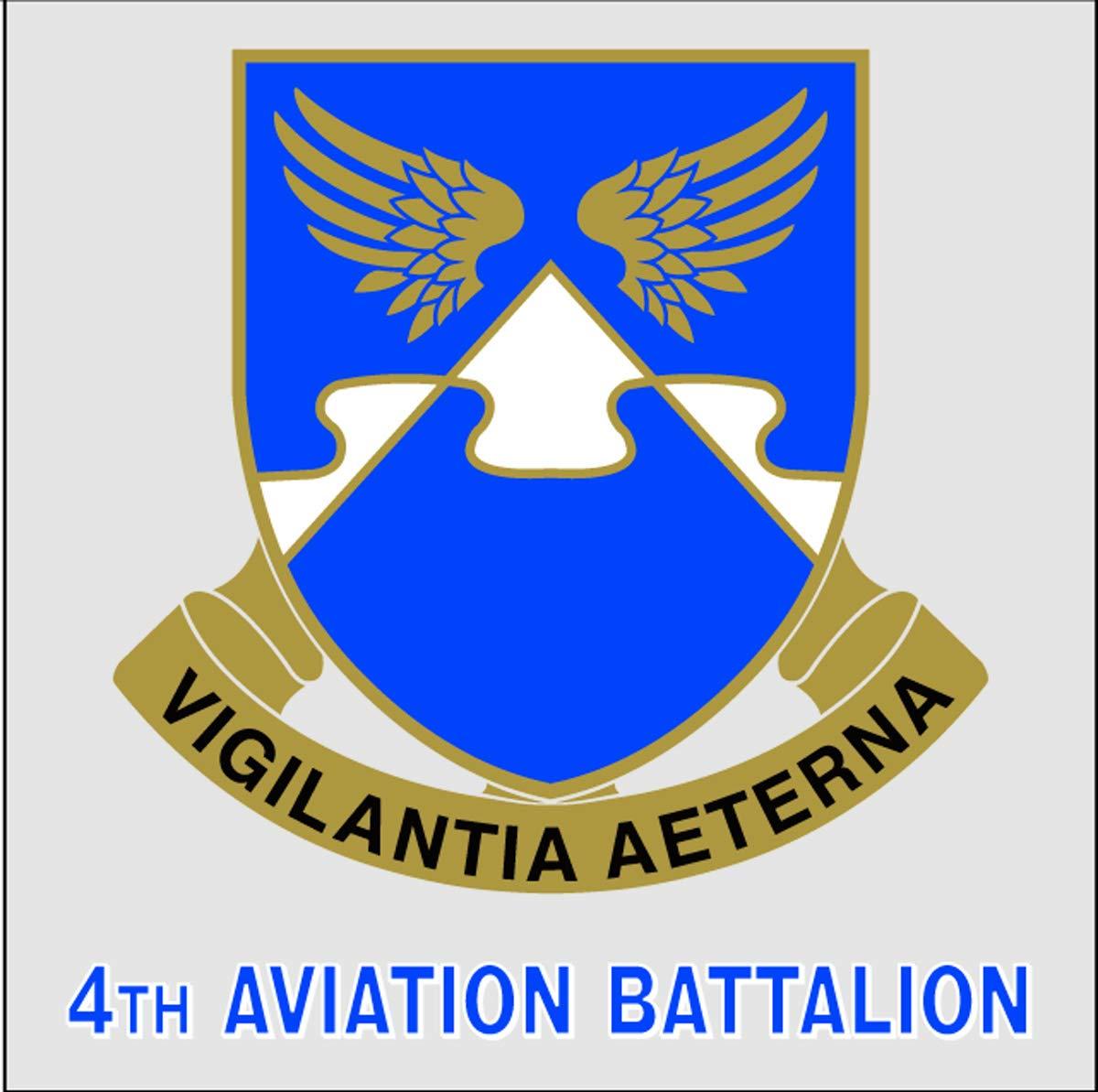 4th Aviation Battalion Unit Crest Decal