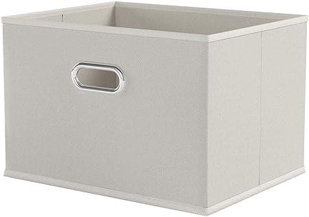 Zeller 14411 - Caja de almacenaje de tela, plegable, 33 x 26 x 22 ...