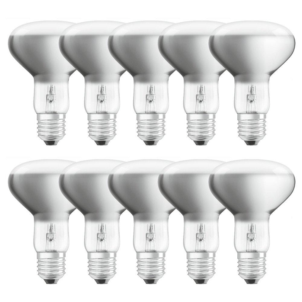 10 x Osram Eco Halogen Reflektor R80 57W = 75W E27 matt dimmbar warmwei/ß