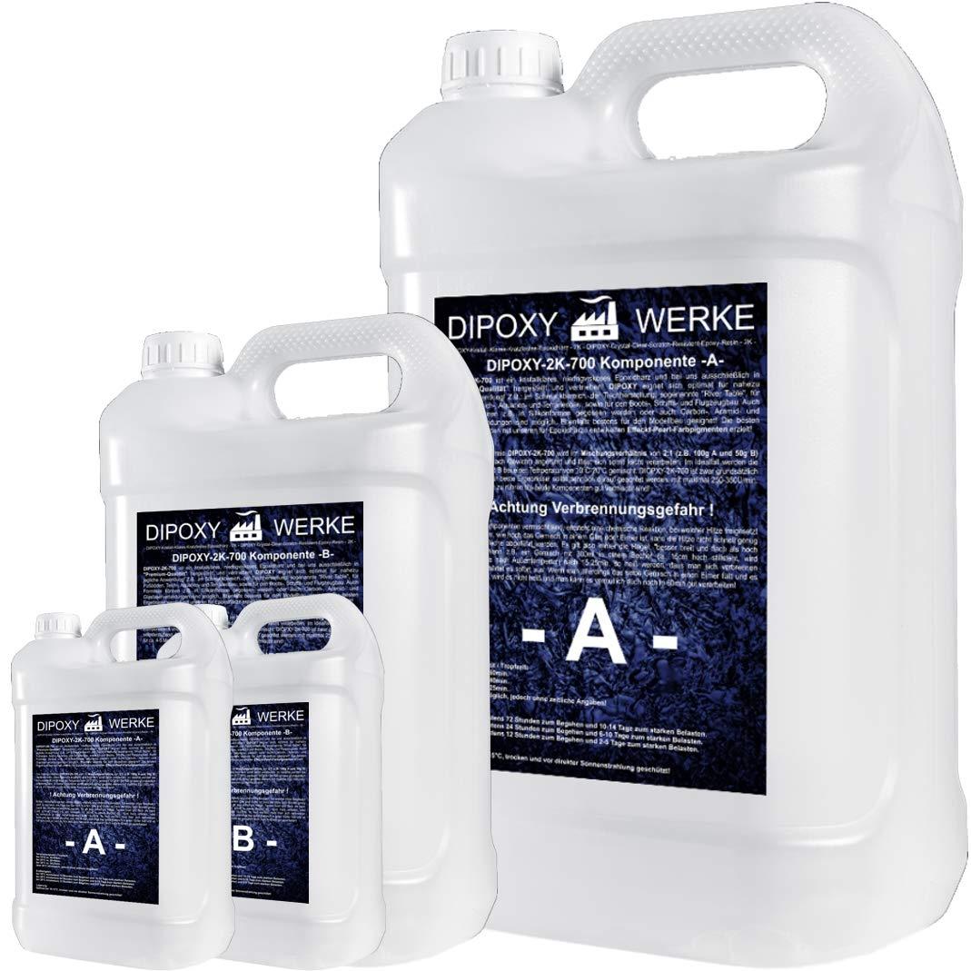 3kg Resina epoxi 2K dos componentes Madera Cristal Transparente para laminar Resina de epoxy para mesa suelo Terra Acuario Formas Diseño UV Estable adhesivo
