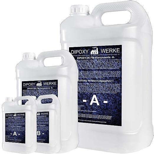 15 kg Resina epoxi 2K dos componentes Madera Cristal Transparente para laminar Resina de epoxy para mesa suelo Terra Acuario Formas Diseño UV Estable ...