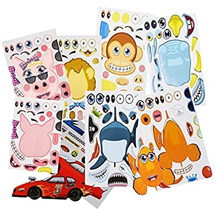 Play kreative make your own stickers kids party favors 96 assorted make a zoo