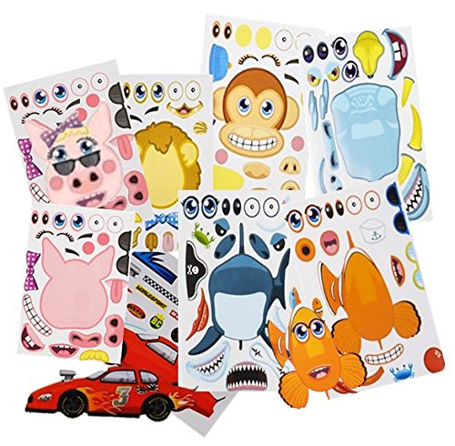 Cheap  Make Your Own Stickers - Kids Party Favors - 96 Assorted Make..