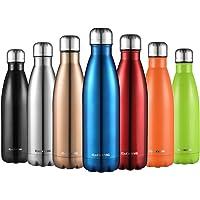 CMXING Bottiglia Acqua, 500ml/ 750ml Doppia Parete Acciaio Inox Sottovuoto Coibentato Bottiglia Termica, Sport Borracce Thermos