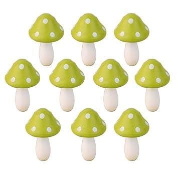 Lot de 10pcs Champignon Miniature en Bois Décoration pour Micro ...