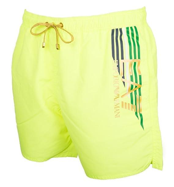 2a5f35b5d427 Emporio Armani EA7 bañador bermuda shorts hombre nuevo amarillo EU ...