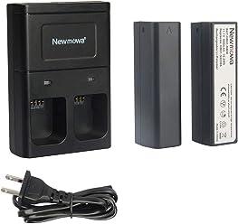Newmowa 互換バッテリー 2個 + 充電器 セット DJI OSMO OSMO+ OSMO Mobile