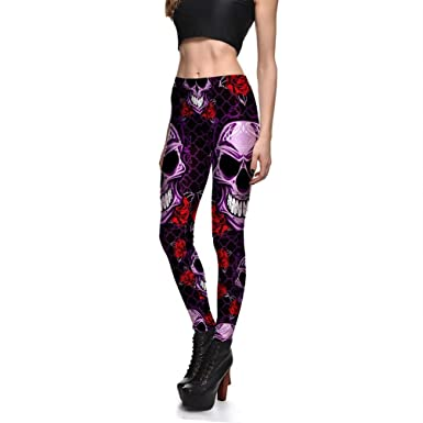 528a9231d6cb1 Amazon.com: Hoyou Funky Print Skull Leggings For Women LuLaRoe ...