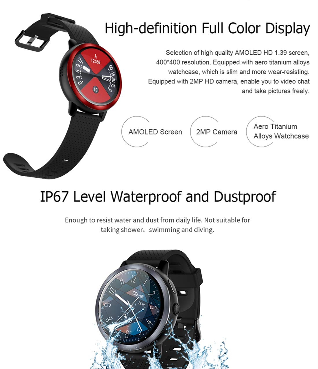 Amazon.com: 4G Smartwatch with 1.39