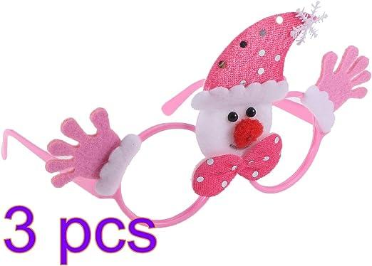 BESTOYARD Novedad Navidad Disfraces Gracioso Gafas Marco muñeco de ...