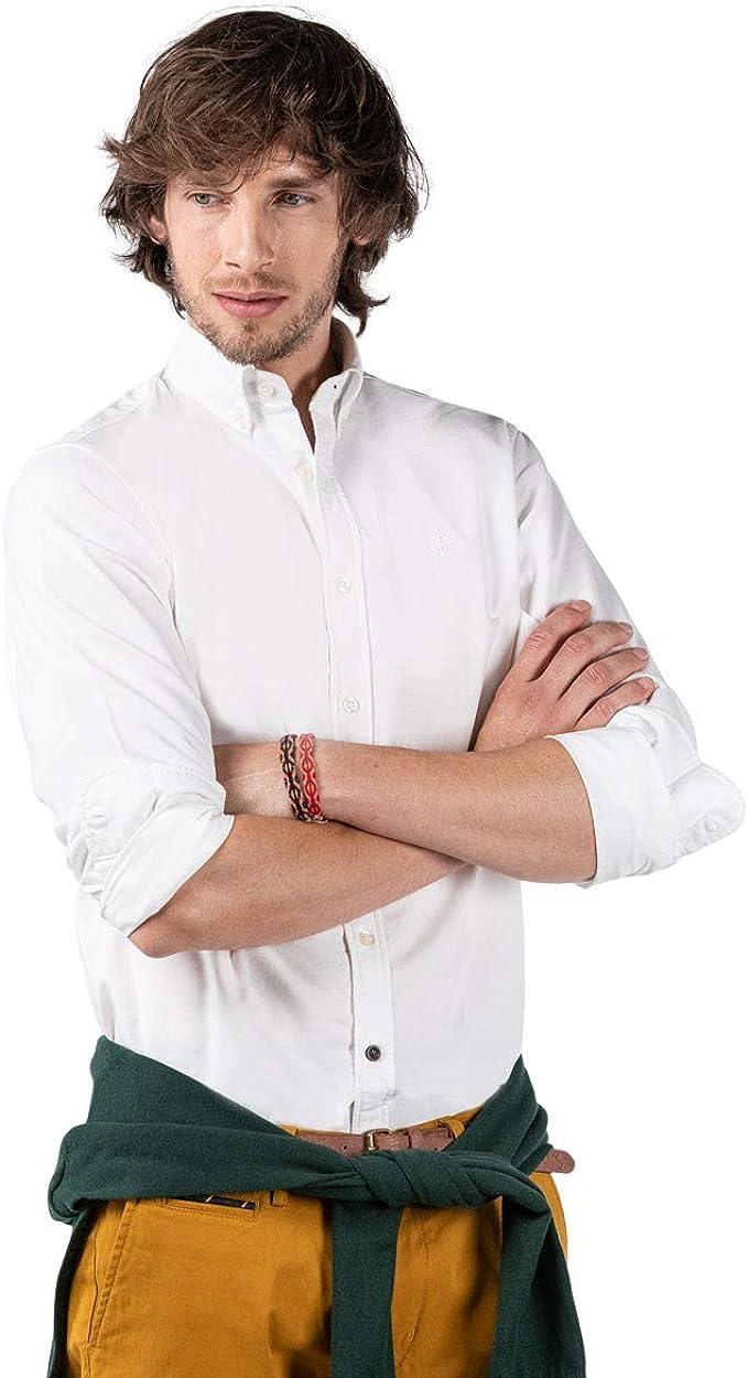 El Ganso Camisa Oxford Lisa Blanca para Hombre