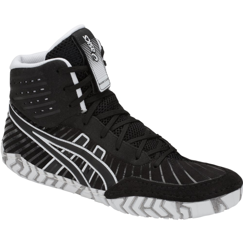 ASICS Aggressor 4 Men's Wrestling Shoes, Black/Black, Size 10 by ASICS