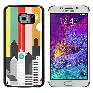 "Pulsar Snap-on Series Teléfono Carcasa Funda Case Caso para Samsung Galaxy S6 EDGE / SM-G925(NOT FOR S6) , Artísticas minimalista Arquitectura Colores"""
