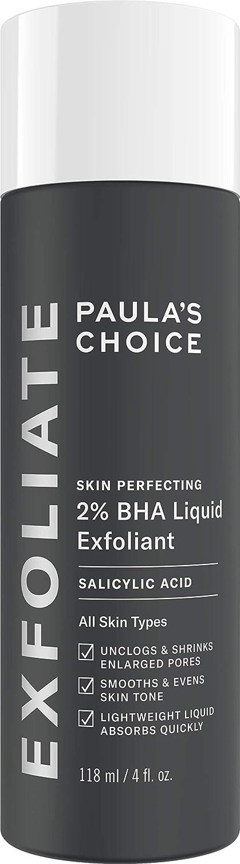 Paulas Choice--SKIN PERFECTING 2% BHA Liquid Salicylic Acid Exfoliant--Facial Exfoliant for Blackheads, Enlarged Pores, Wrinkles & Fine Lines, 4 oz Bottle: Beauty