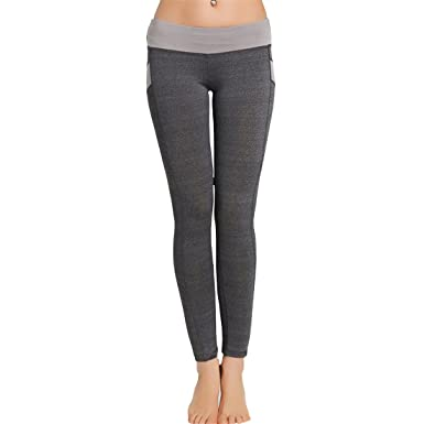 75ac2fa0c6 Womens Yoga Pants,YKA,Girl Patchwork Skinny Push Up Sport Casual Pants  Trousers Leggings For Ladies (M, Gray): Amazon.co.uk: Clothing