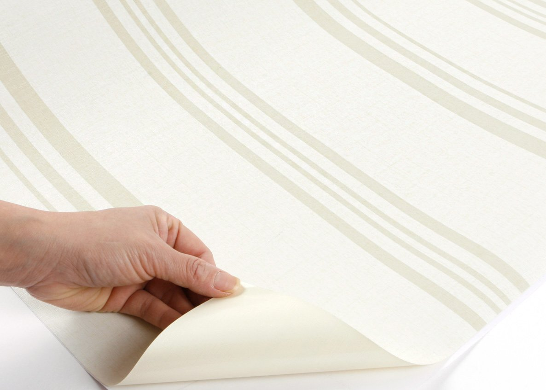 ROSEROSA Peel and Stick Flame Retardant PVC Instant Wave//Stripe Decorative Self-Adhesive Film Countertop Backsplash Wave White Pearl : 2.00 Feet X 6.56 Feet 5128-1 MF252