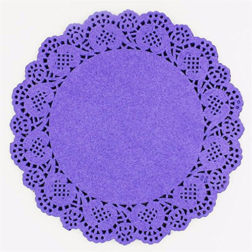 Eagles doilies paper 20Pcs 6.5'' Colored Flower Lace Round Paper Doilies Placemat Craft Doyleys Christmas Birthday Tableware Decoration -