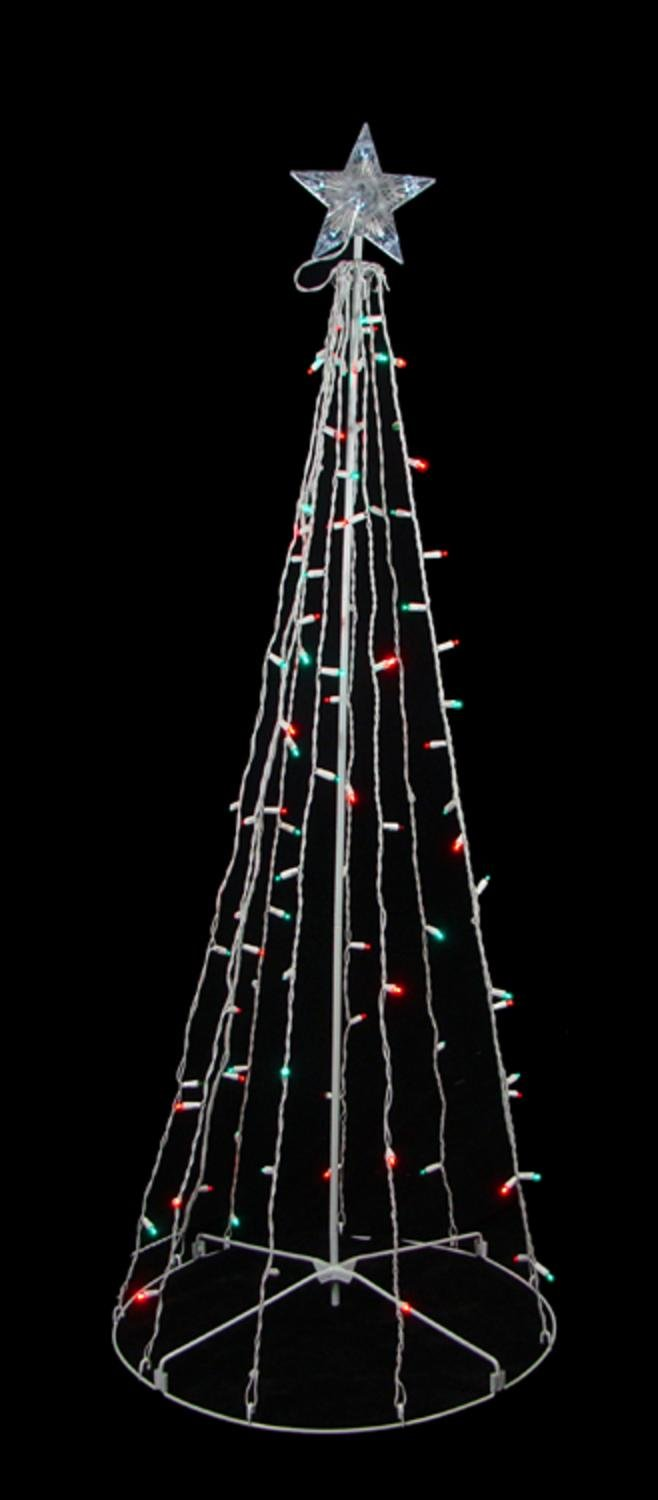 amazoncom sienna red and green led lighted outdoor twinkling christmas tree yard art decoration 5 home kitchen - Spiral Lighted Christmas Tree