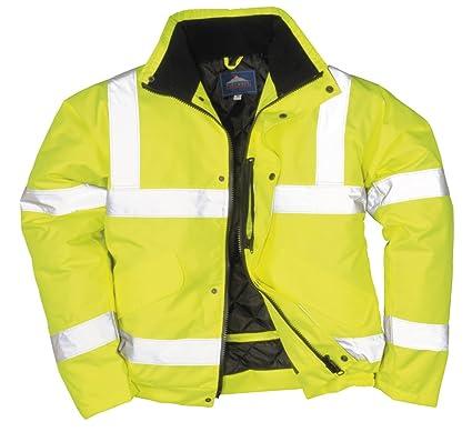 Portwest - Chaqueta de aviador con bandas reflectantes, color amarillo: Amazon.es: Industria, empresas y ciencia