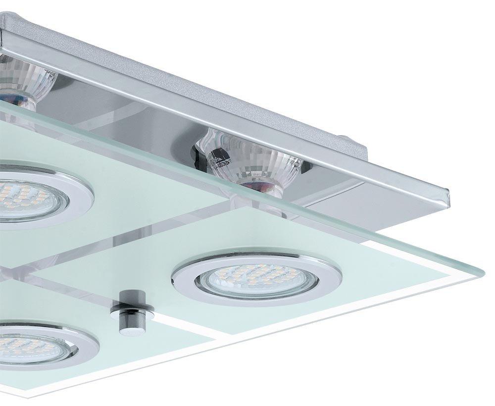 Plafoniera Led Eglo Prezzo : Plafoniera led 12 watt casa lampada salotto vetro inox piano eglo