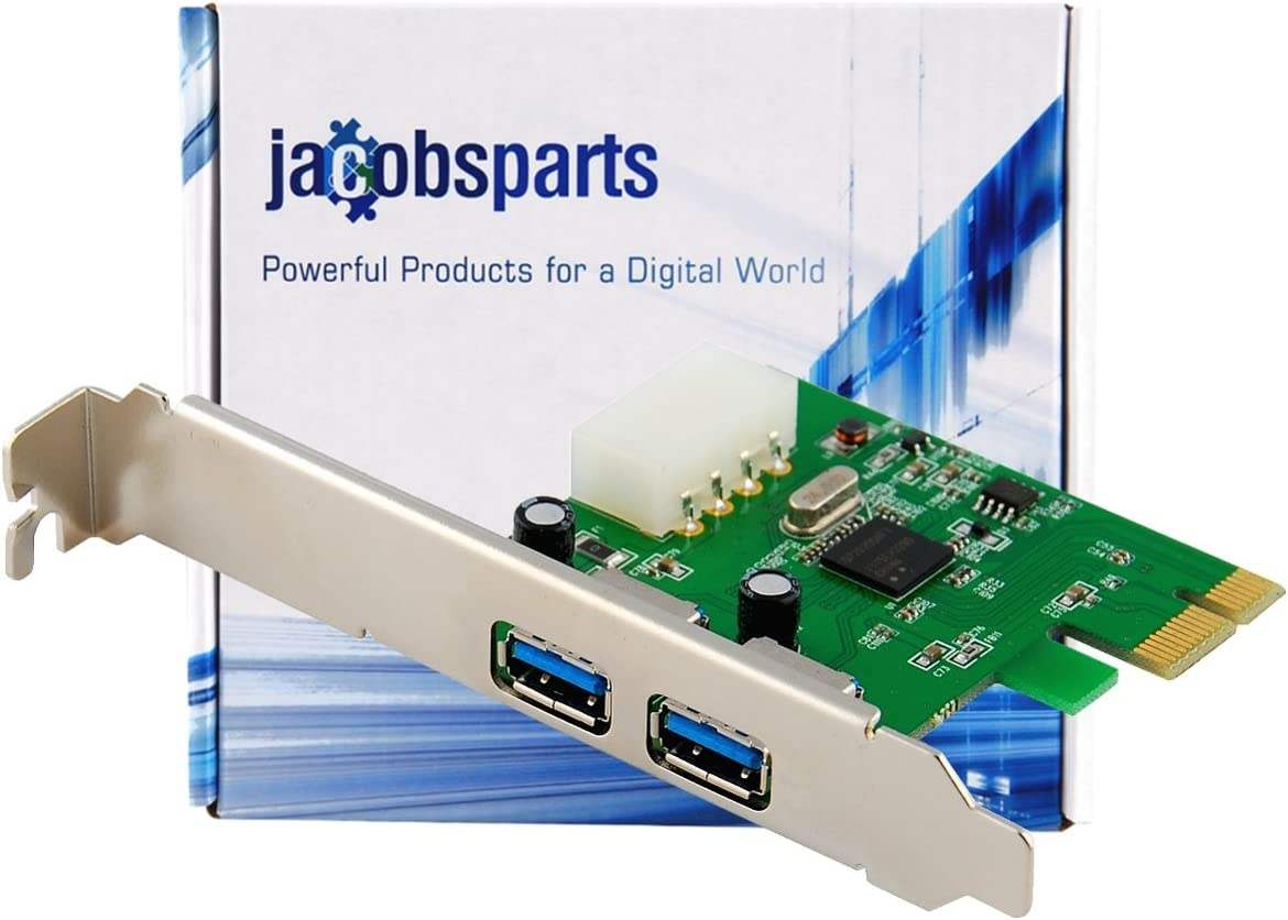 2-Port USB 3.0 PCI-Express PCIe Adapter Controller Card Low Profile 4-Pin Power