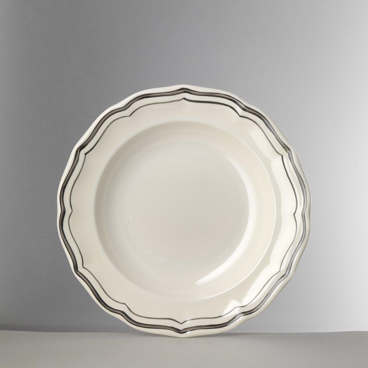 Mario Luca Giusti Set 6 Miranda Dessert Plate White/Grey