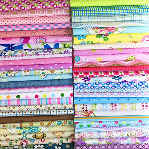 - Misscrafts 200 PCS 6 x 6 inches Cotton Fabric Squares Precut Quilting Charm Pack