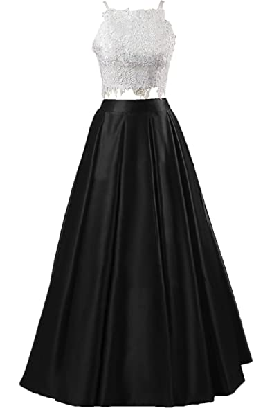 Sunvary Vogue Two-Pieces Ball Gown Sleeveless Spaghetti Prom Dress Graduation Gown Size 2-
