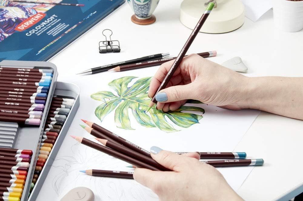Trousse 24 crayons colourdoux Derwent