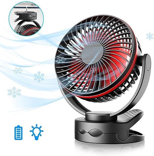 Portátil Recargable Mini Silencioso ventilador de clip , batería ...