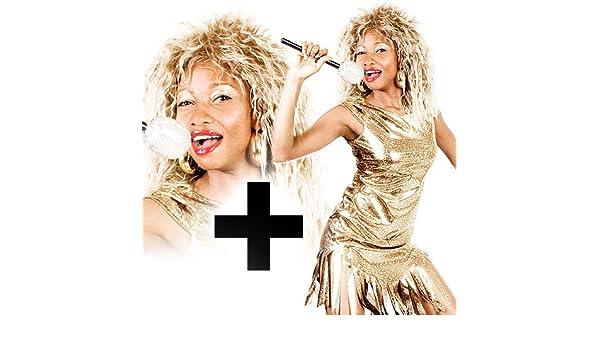Rubies - Disfraz de Tina Turner y peluca (talla 38-42): Amazon.es: Juguetes y juegos