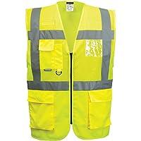 Portwest C496YERXS Madrid Executive Chaleco de malla, talla XS, amarillo